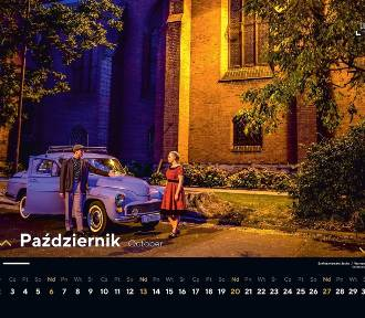 Kalendarz Legnicy 2019 - tak będzie wyglądał - zabytki, stare samochody i mieszkańcy!