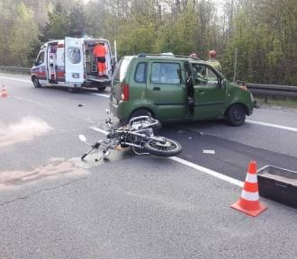 Wypadek na Obwodnicy Trójmiasta. Poszkodowany motocyklista