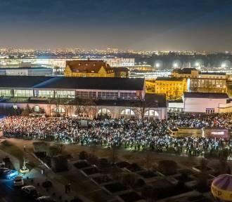 Finał WOŚP w Poznaniu z lotu ptaka. Zobacz niezwykłe zdjęcia