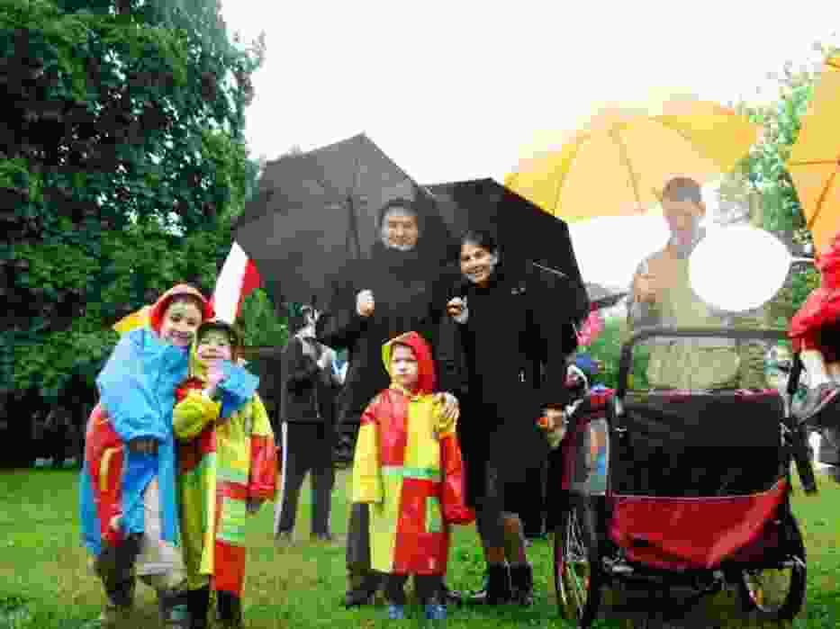Jedna z rodzin uczestnicząca w Marszu