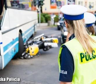 Motocyklista wyjeżdżający z Pol'And'Rock uderzył w autobus