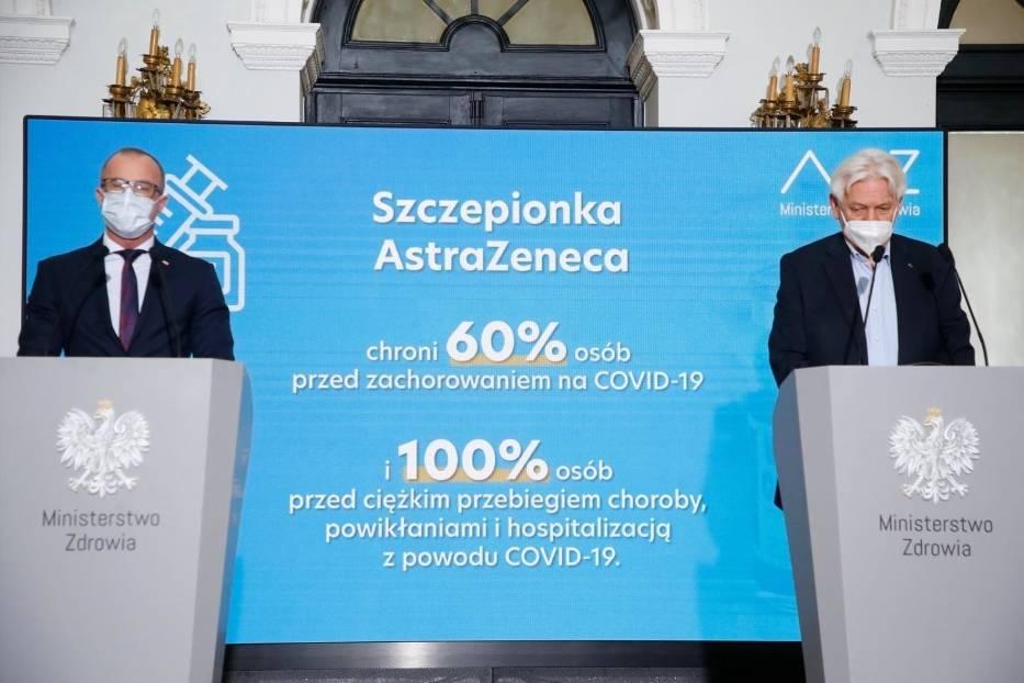 Resort zdrowia zapewnia o skuteczności szczepionki AstraZeneca