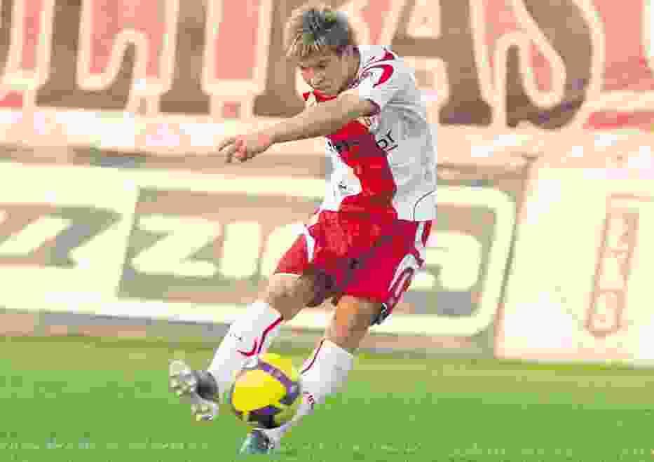 Jakub Kosecki zdobył już w tym sezonie dwa gole dla drużyny ŁKS