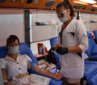 Akcja poboru krwi w sali OSP w Kościelnej Wsi. ZDJĘCIA