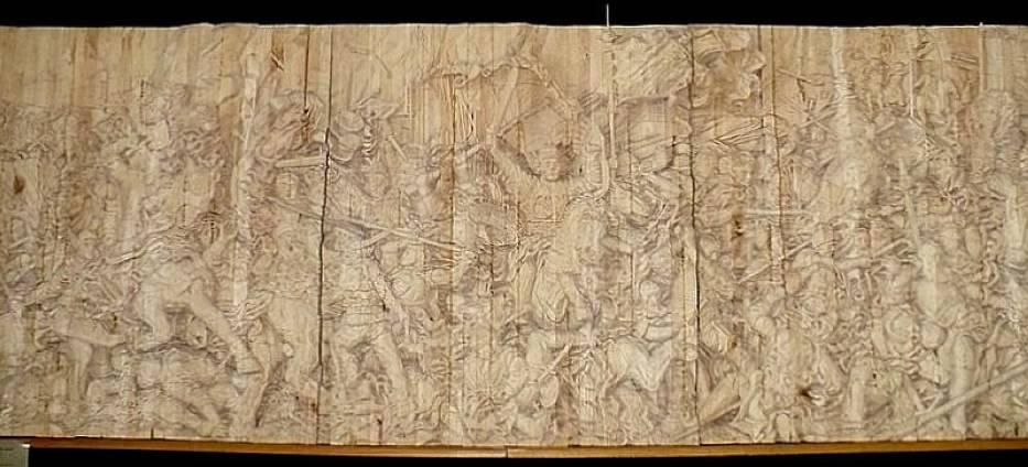 Bitwa pod Grunwaldem - rzeźbiarski szkic