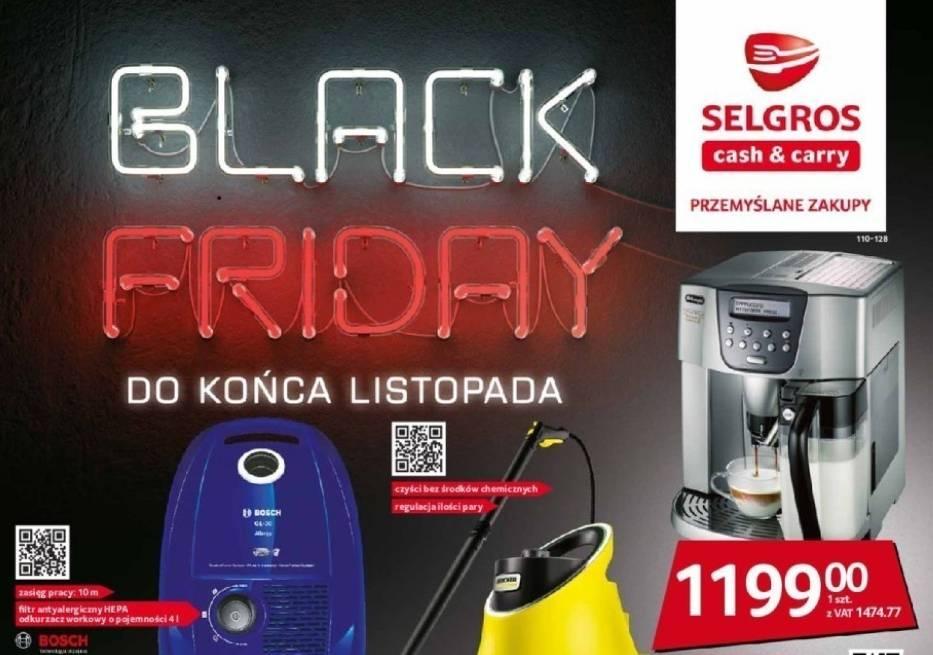 Gazetka sklepu Selgros z okazji Black Friday.