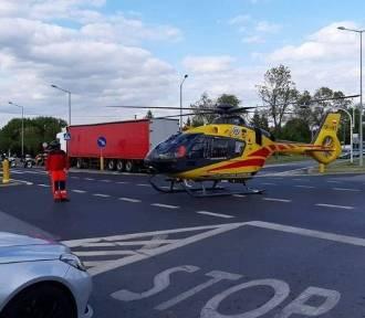 Wypadek z udziałem rowerzysty. 16-latek w ciężkim stanie