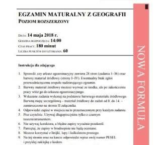 Matura 2018. Geografia - arkusze, odpowiedzi, CKE