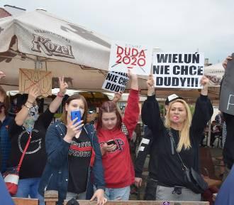 Wieluń. Sympatyk Andrzeja Dudy zaatakował kobietę. Ciemna strona wiecu prezydenta[FOTO, WIDEO]
