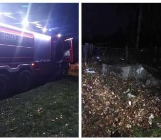 Pożar na cmentarzu w Modzerowie w powiecie włocławskim [zdjęcia]