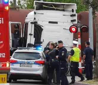 Wypadek na strzeżonym przejeździe kolejowym w Świebodzinie