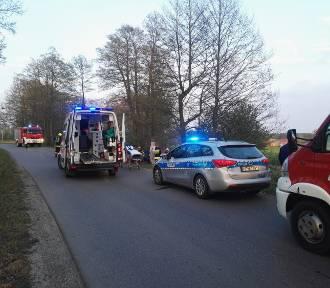 Kolizja w Marezie, wypadek w Jałowcu. Ranne dwie osoby [ZDJĘCIA]