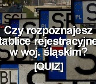 QUIZ. Czy rozpoznajesz tablice rejestracyjne w woj. śląskim?
