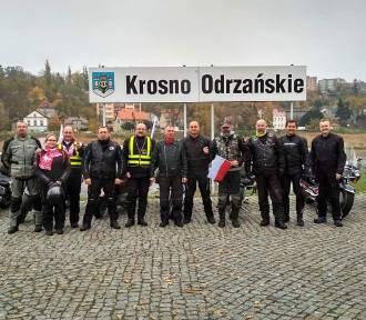 Motocykliści z Krosna Odrzańskiego na własny sposób obchodzili 100-lecie Niepodległości (ZDJĘCIA)