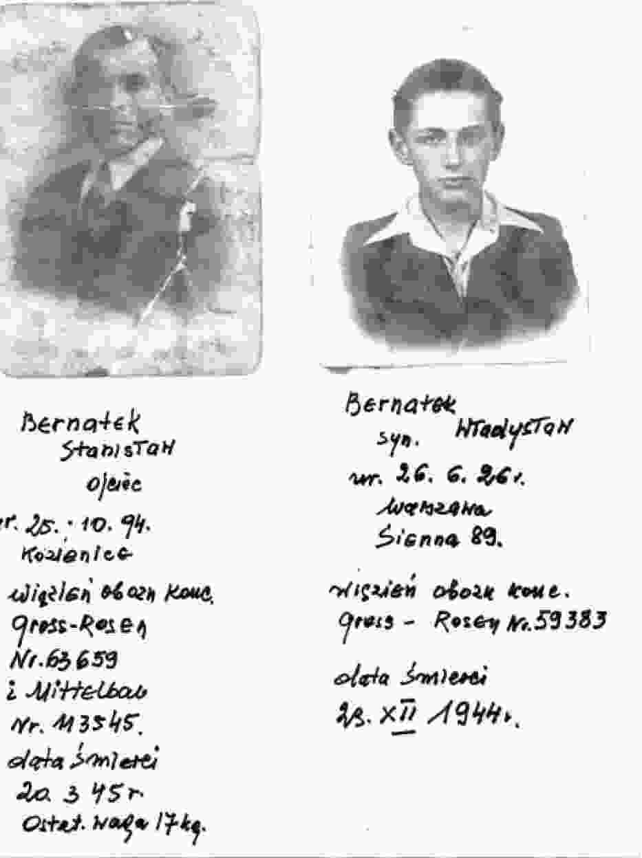 fotografia przedstawia Ojca i Brata- pani Kazimiery Bernatek
