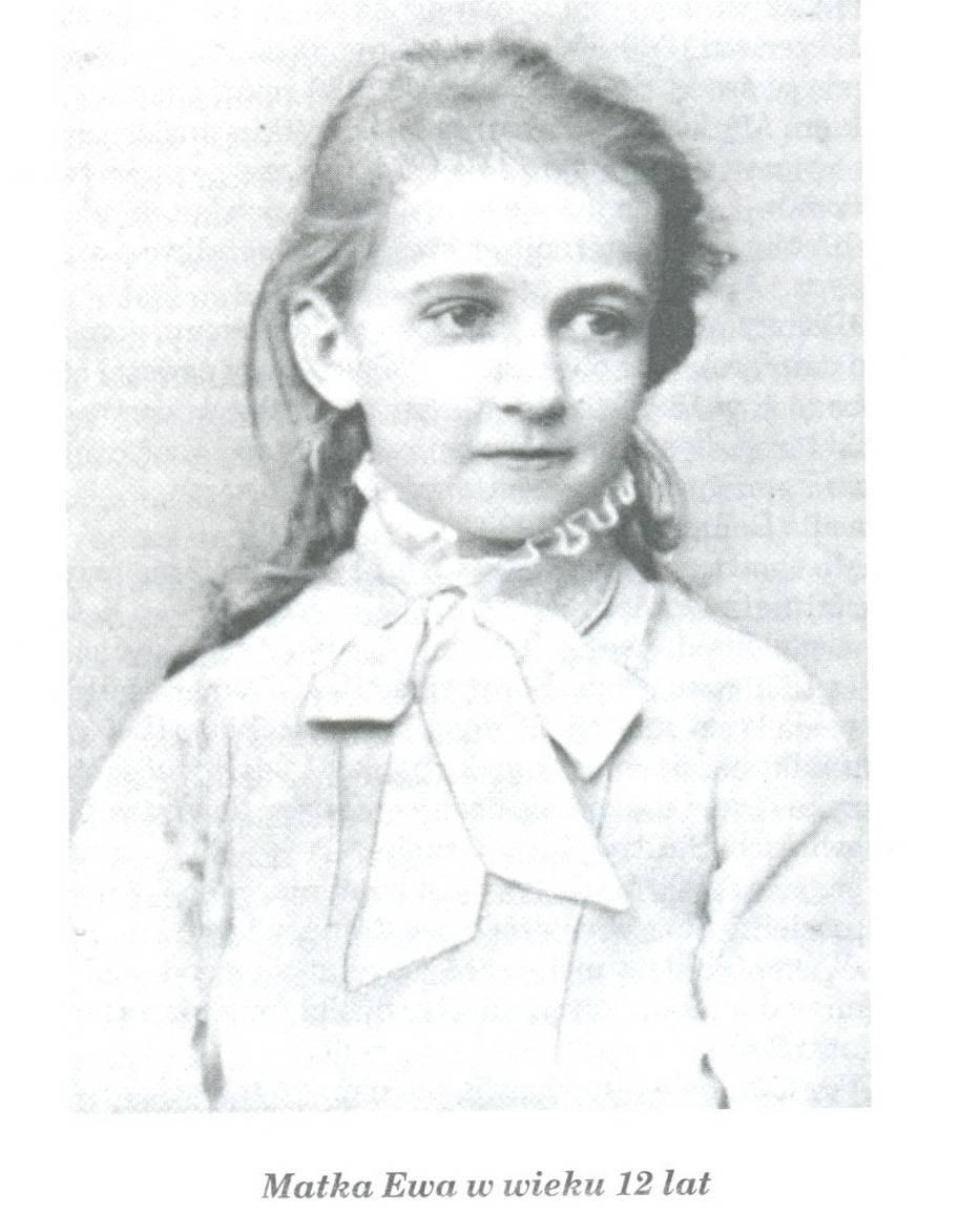 Szlachcianka Ewa w wieku 12 lat, przyszła Matka Ewa