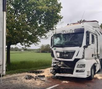 58-latek doprowadził do zderzenia dwóch ciężarówek na terenie powiatu