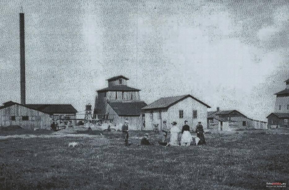 """Kopalnia """"Brzeszcze"""" na zdjęciu z 1905 roku"""