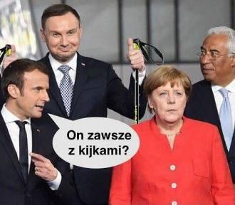Szczyt NATO w Brukseli... i wesoły Andrzej Duda [MEMY, WIDEO]