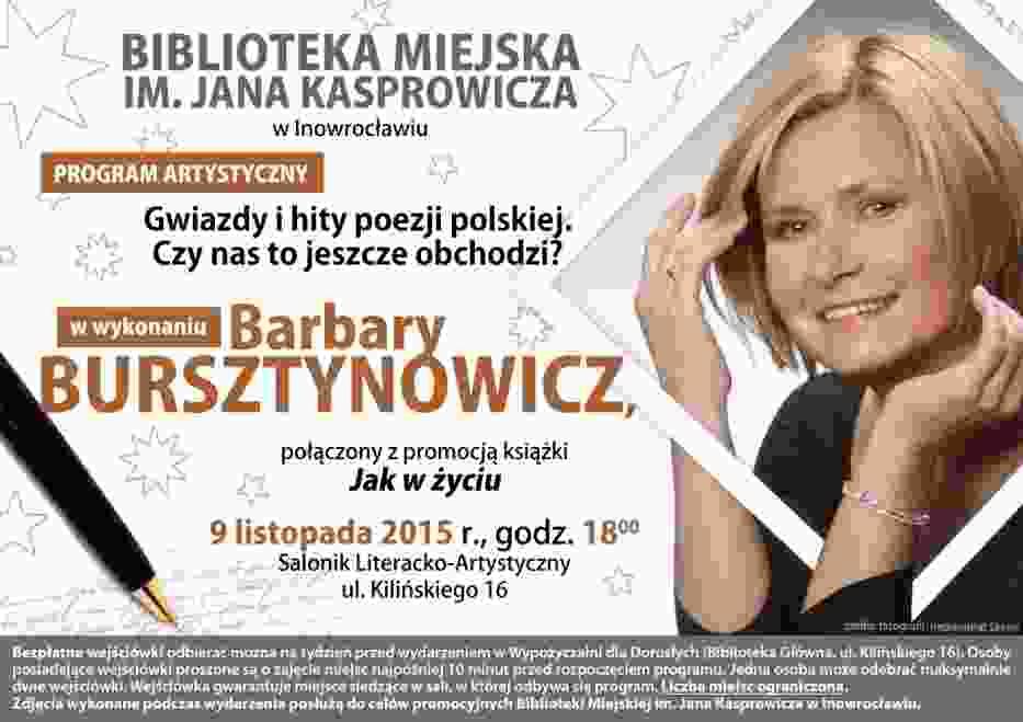 Barbara Bursztynowicz przyjedzie do Inowrocławia
