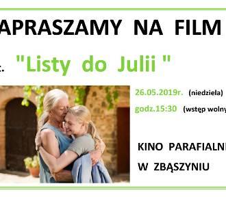 """""""Listy do Julii"""" -  już w niedzielę w kinie parafialnym"""