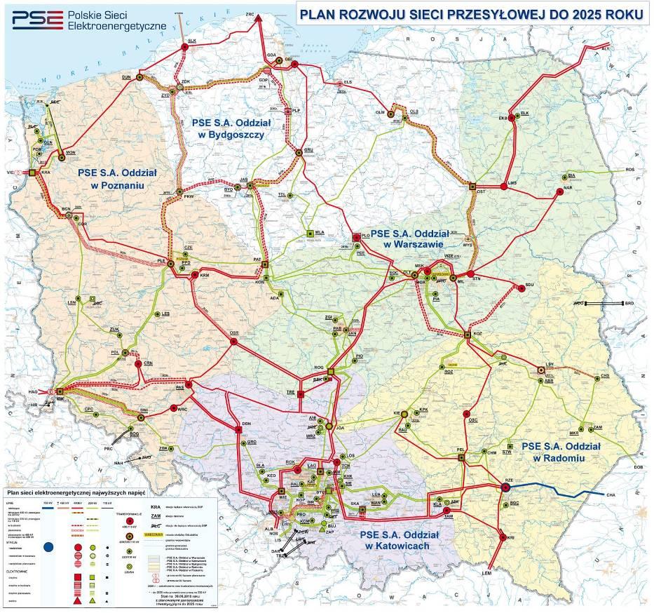 Inwestorem są Polskie Sieci Elektroenergetyczne (PSE)