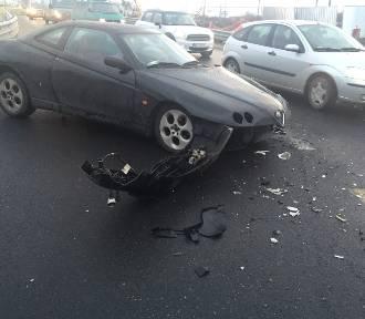 Wypadek na moście Strachocińskim (ZDJĘCIA)