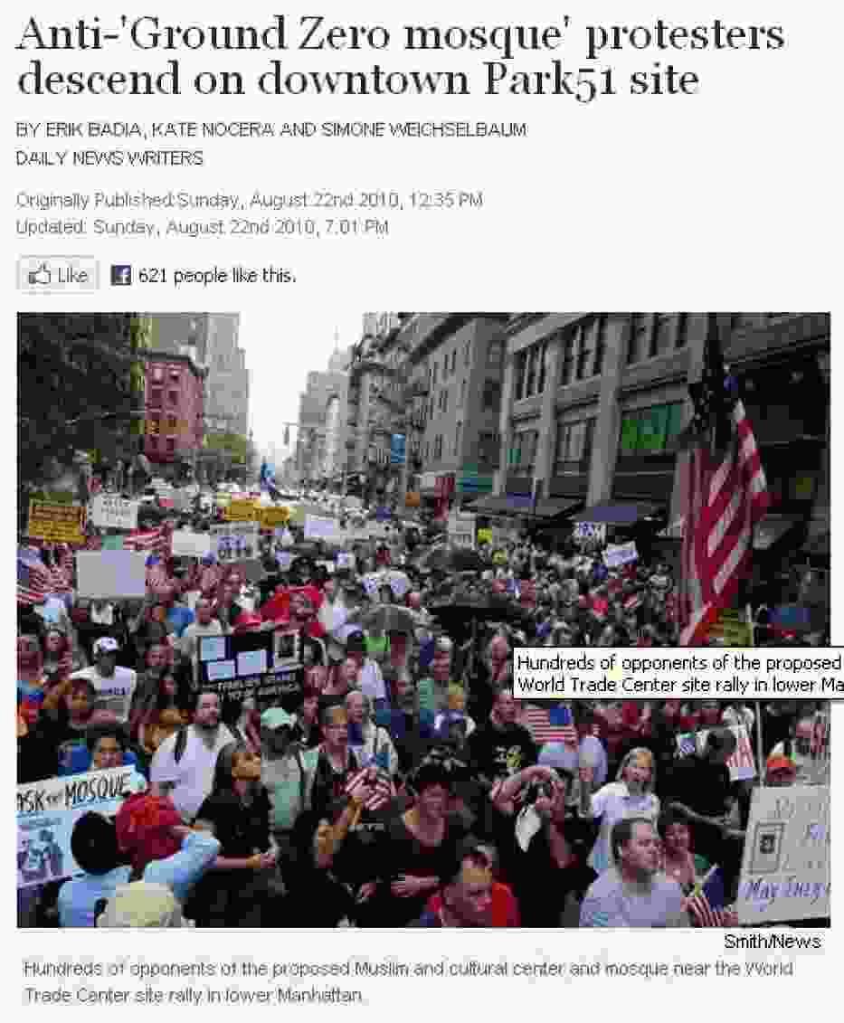 Protest przy Ground Zero