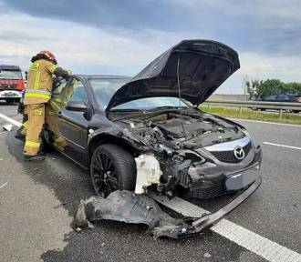 Wypadek czterech aut na S8. Interweniowali ochotnicy z Sycowa!