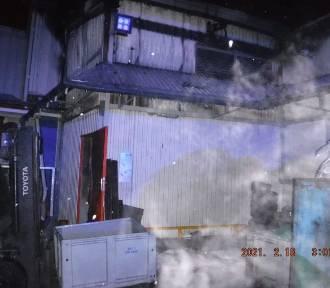 Pożar w zakładzie produkcyjnym przy ul. Partyzantów w Bochni