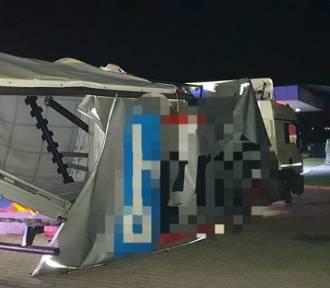 Pijany kierowca prowadził uszkodzoną ciężarówkę - został zatrzymany