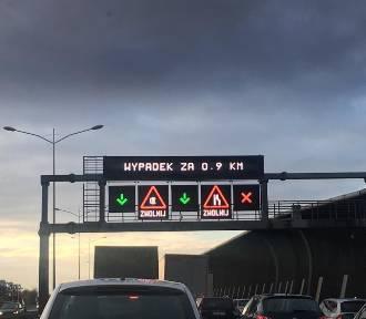 Wrocław. Wypadek na AOW. Są duże utrudnienia