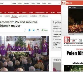 Światowe media komentują pogrzeb Pawła Adamowicza