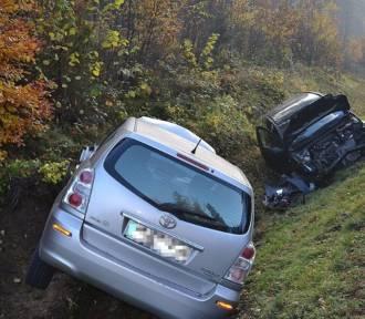 """Wypadek na """"krajówce"""" w Hopowie - jedna osoba poszkodowana  ZDJĘCIA"""