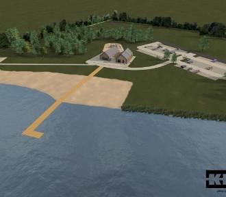 Rusza budowa nowej plaży nad Jeziorem Tarpno w Grudziądzu