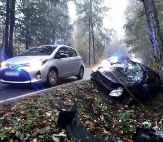 Pijany kierowca spowodował kolizję na drodze powiatowej z Wałbrzycha do Świdnicy (ZDJĘCIA)