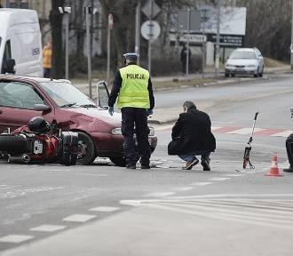 Wypadek na ulicy Złotoryjskiej w Legnicy [ZDJĘCIA]