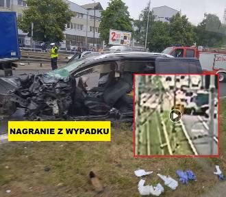 Wideo z wypadku na Gdańskiej: wjechał samochodem w ciężarówkę!