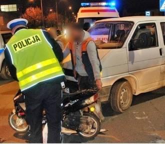 Wypadek na ul. 30 Stycznia w Tczewie. Kierowca skutera trafił do szpitala