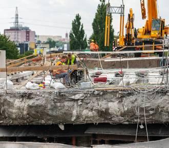 Trwa remont wiaduktu na Armii Krajowej w Bydgoszczy [zdjęcia]
