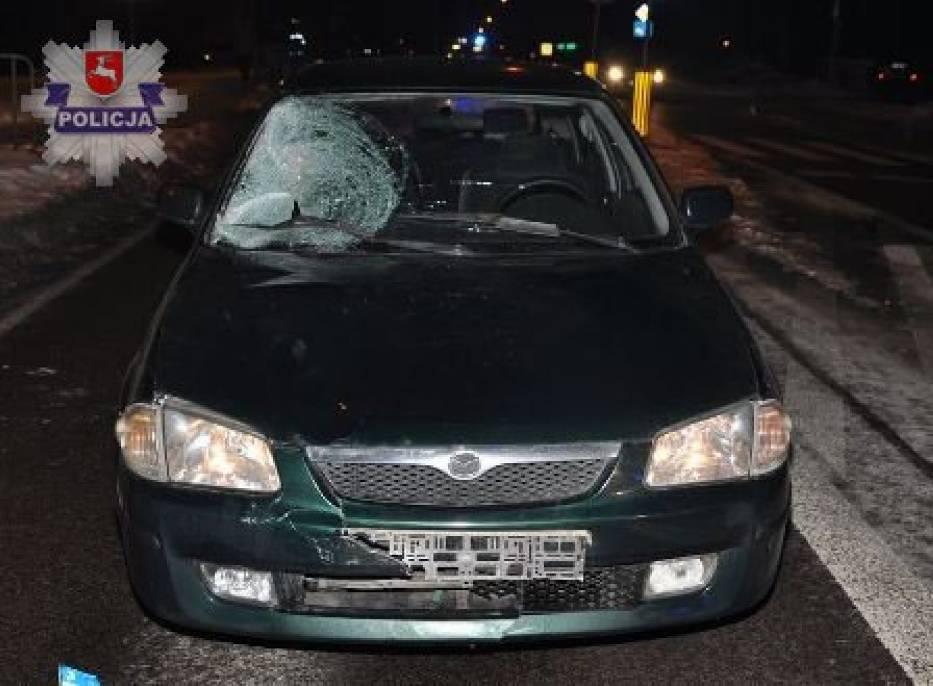Pijany pieszy potrącony przez samochód