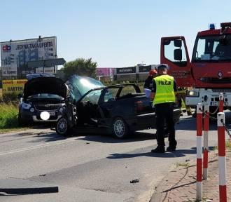 Zderzenie czterech samochodów w Knurowie