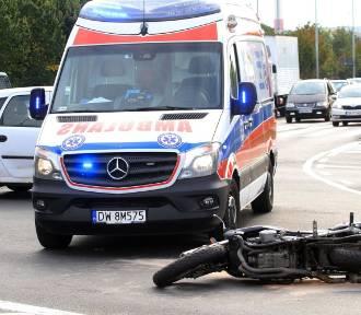 Śmiertelny wypadek motocyklisty koło Nieborowa
