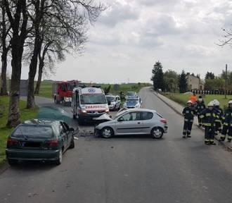 Kolizja drogowa w miejscowości Węgierce koło Krajenki [ZDJĘCIA]