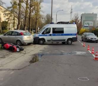 Dwa wypadki motocyklistów w Łodzi!