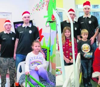 Koszykarski Mikołaj przyszedł do dzieci w stargardzkim szpitalu