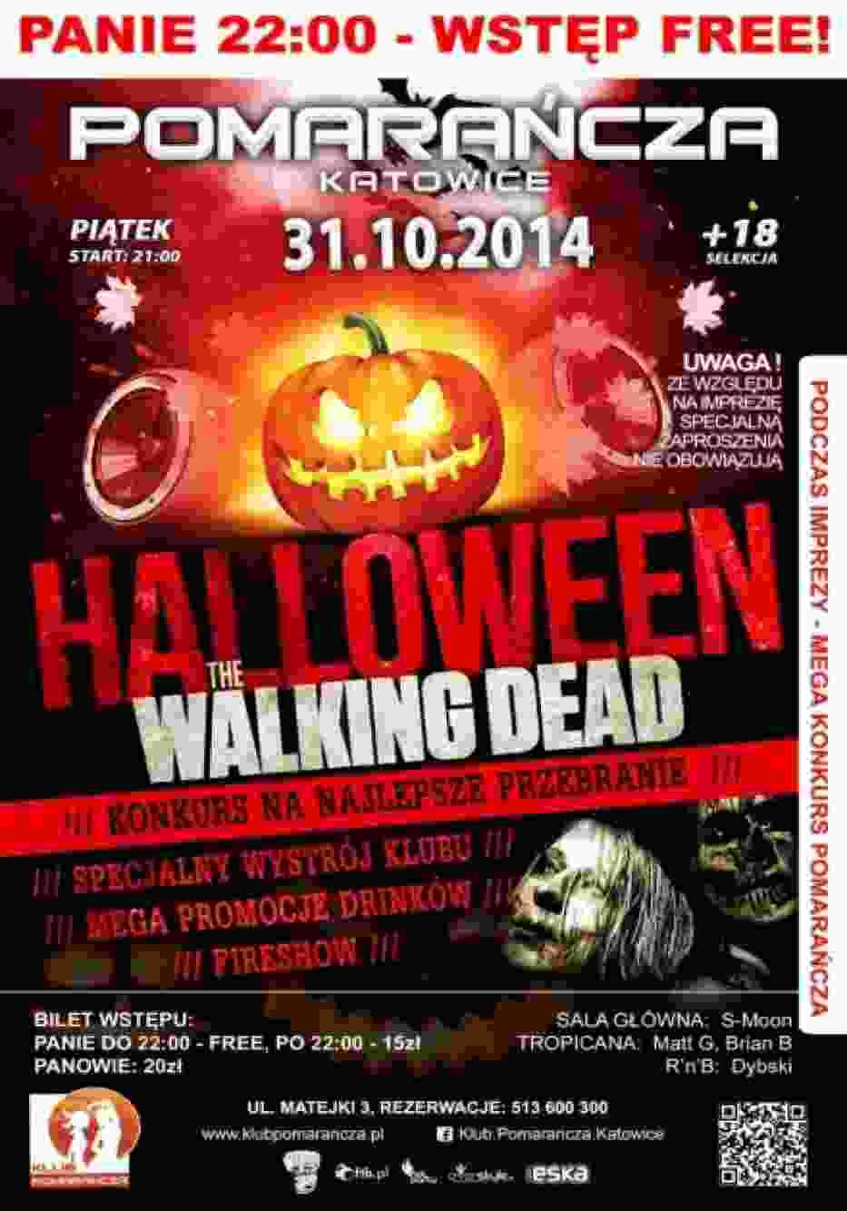 Klub Pomarańcza – Halloween The Walking Dead