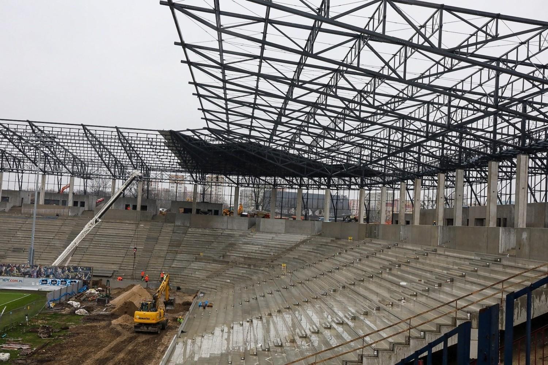 Budowa stadionu Pogoni Szczecin - 6 marca 2020 r