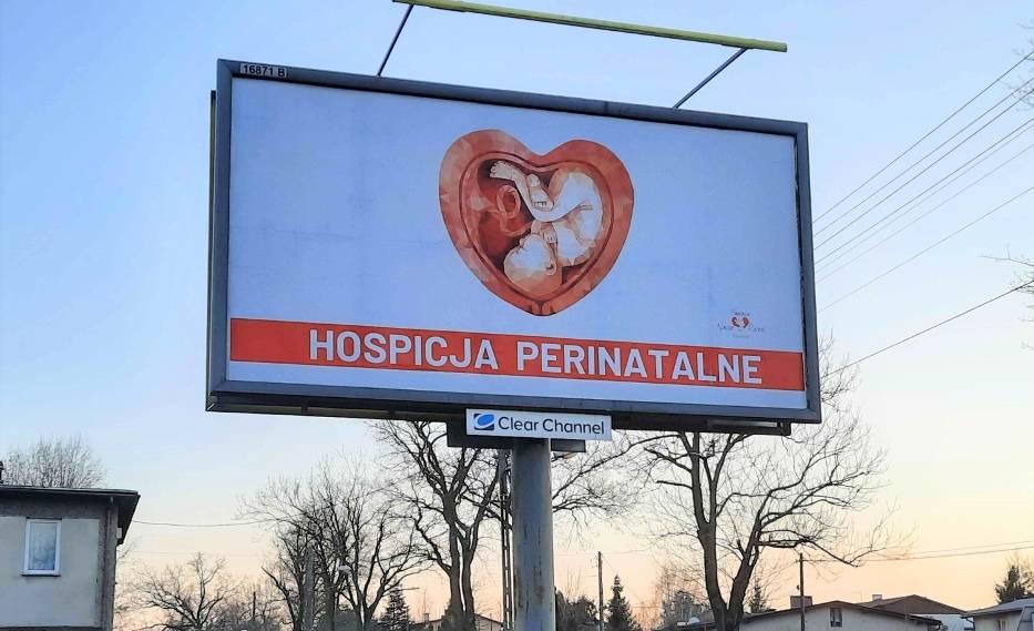 Kampania outdoorowa, promująca hospicja perinatalne, jest widoczna w każdym większym mieście w Polsce