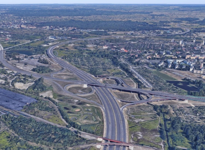 Węzeł Murckowska w Katowicach, łączy DK 86 z autostradą A4